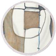 Framed Round Beach Towel by Sandra Church