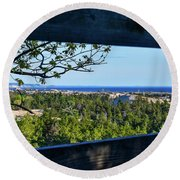 Framed View Round Beach Towel