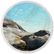 Francis Point - Shore Round Beach Towel by Ed Hall