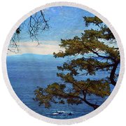 Francis Point - View Round Beach Towel by Ed Hall