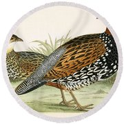 Francolin Round Beach Towel