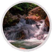 Franconia Notch 2 Round Beach Towel by Sherman Perry