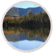 Franconia Ridge From Lonesome Lake Round Beach Towel