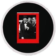 Frank Sinatra And Mr And Mrs Humphrey Bogart Circa 1953-2016   Round Beach Towel