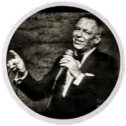 Frank Sinatra -  Round Beach Towel
