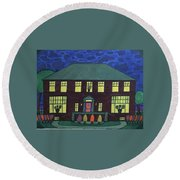 Frank Spies Home. Historical Menominee Art. Round Beach Towel