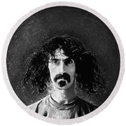 Frank Zappa Round Beach Towel