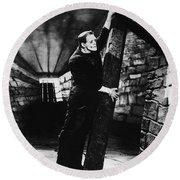 Frankenstein Boris Karloff Classic Film Image  Round Beach Towel