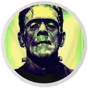 Frankenstein In Color Round Beach Towel