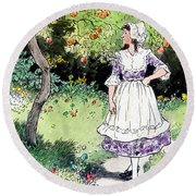 Frau Holle Also Known As Mother Holle Or Old Mother Frost Round Beach Towel