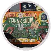 Freak Show  Round Beach Towel