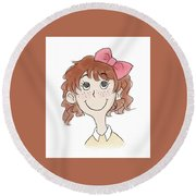 Freckle Face Coco Round Beach Towel