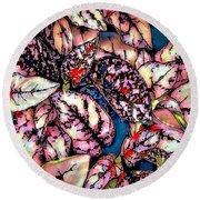 Round Beach Towel featuring the digital art Freckle Face by Pennie  McCracken