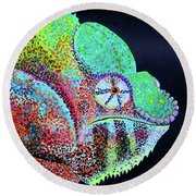 Freckle Face Round Beach Towel