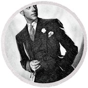 Fred Astaire, Legend By Js Round Beach Towel
