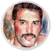 Freddie Smiling Round Beach Towel