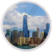 Freedom Tower Nyc Round Beach Towel