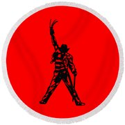 Freddy Krueger Round Beach Towel