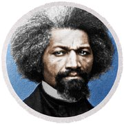 Frederick Douglass Painting In Color  Round Beach Towel