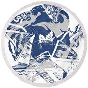 Frederik Andersen Toronto Maple Leafs Pixel Art 2 Round Beach Towel