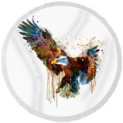 Free And Deadly Eagle Round Beach Towel