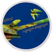 Freebird Lynyrd Skynyrd Ronnie Van Zant Round Beach Towel
