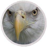 Freedom Eagle Round Beach Towel