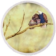 Round Beach Towel featuring the photograph Freedom by James BO Insogna