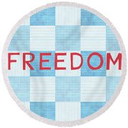 Freedom Patchwork Round Beach Towel