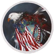 Freedom Rings Round Beach Towel