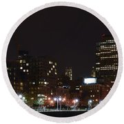 Freedom Skyline Round Beach Towel