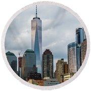 Freedom Tower - Lower Manhattan 1 Round Beach Towel