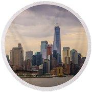 Freedom Tower - Lower Manhattan 2 Round Beach Towel