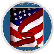 Freedom's Colors Uscg Round Beach Towel