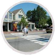 Freeport, Maine #130398 Round Beach Towel