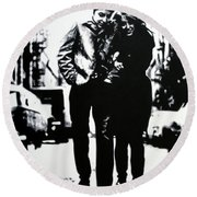 Freewheelin Round Beach Towel