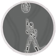Freeza Black And White Round Beach Towel