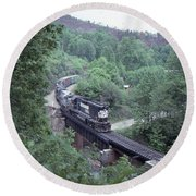Freight At Mill Creek Round Beach Towel
