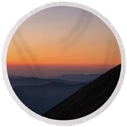 Fremont Lookout Sunset Layers Vision Round Beach Towel by Mike Reid