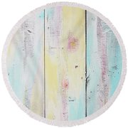 French Door In California With Colors Round Beach Towel