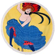French Journal Ad 1899 Round Beach Towel by Padre Art