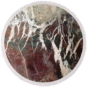 French Marble Round Beach Towel by Therese Alcorn