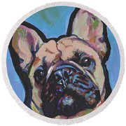 French Me Up Round Beach Towel
