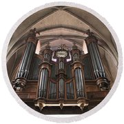 Round Beach Towel featuring the photograph French Organ by Christin Brodie