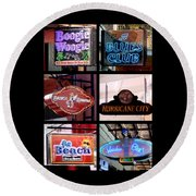 French Quarter Signs Poster Round Beach Towel