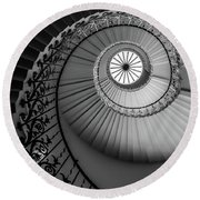 French Spiral Staircase 1 Round Beach Towel