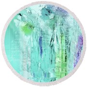 Round Beach Towel featuring the digital art French Still Life - 14b by Variance Collections