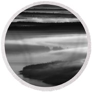 Frenchman's Bay Recursion Round Beach Towel