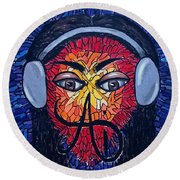 Frequencial - Abstract Art Music Painting - Ai P.nilson Round Beach Towel