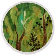 Fresh Air  Round Beach Towel